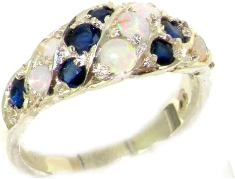925 Sterling Silver Real Genuine Opal Band Animer and price revision Womens Sapphire Japan Maker New R