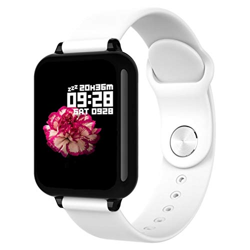 Smartwatch by ESCAPE, Smartband Orologio Fitness Activity Tracker Uomo Donna, Contapassi, Cardiofrequenzimetro Da Polso, Monitor del sonno, IP67, APP per Android e iOS. (Bianco)
