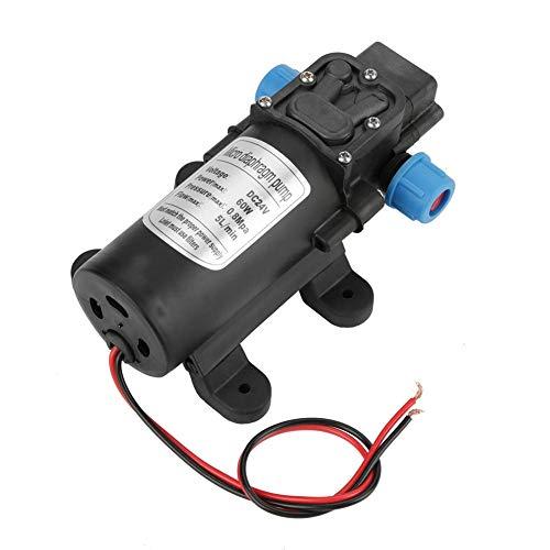 CHHD Bomba de Agua, Bomba de Agua autocebante de diafragma de 24 V CC 60W 5L / Min Bomba de Agua eléctrica en Miniatura de Alta presión para césped agrícola
