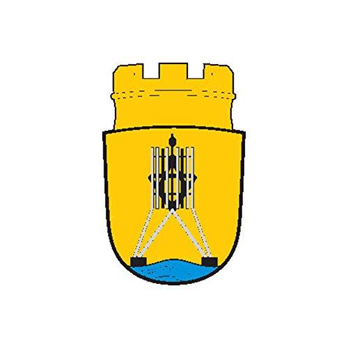 Sign cuxhaven city coat of arms n5355 Flag COA Emblem A4 Aluminium 10x8 Metal