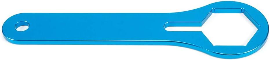 Herramienta de suspensi/ón de Amortiguador de Motor de aleaci/ón de Aluminio de 50 mm Apta para KTM 125150250350450550 sx xcwp Azul Qiilu Llave de Tapa de Horquilla