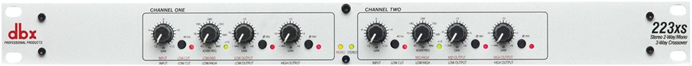 dbx 223xs Stereo 2-Way, Mono 3-Way Crossover with XLR Connectors (223xs)