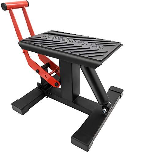 YSMOTO Motorcycle Jack Dirt Bike Stand Adjustable Height Lifting Rack Lift Hoist Table for Steel Maintenance