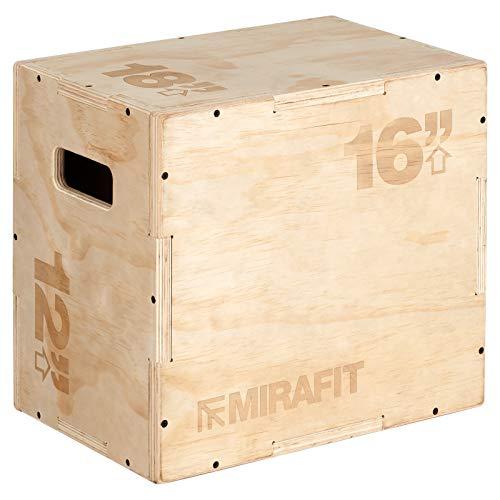 MiraFit 3-in-1 Plyobox Sprungbox aus Holz - 46 cm x 40,5 cm x 30,5 cm