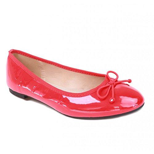 No Name Ballerina's lak rood binnenzool leer klassieke vorm