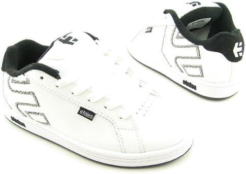 etnies Fader Skate Shoe - Boys' White/Black/Grey, 2.0
