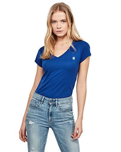 G-STAR RAW Damen Eyben Slim V T Wmn S/S T-Shirt, Blau (Hudson Blue 1855), (Herstellergröße:M)