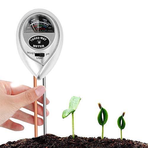 buycheapDG(JP) 土壌測定器 土壌テスター 3 in 1 デジタル土壌酸度計 土壌湿度計 PHメーター 測定 水分 PHテスター PHテスター 水分計 土壌測定器 多機能 農業 園芸用品 家庭菜園/栽培/園芸/農作物 簡易型 屋内/屋外使用可能