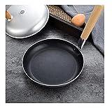 Wok Antiadherente Skillet Frey sartén antiadherente huevo frito pequeño hogar sano sano multifunción freying pan horno (Color : A)