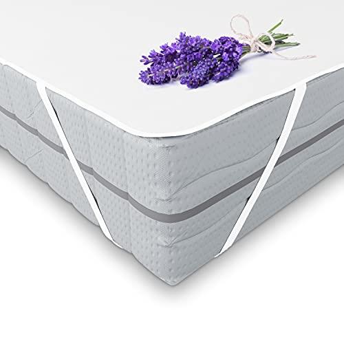 komogrino 200 x 220 cm, protector de colchón, funda protectora de colchón impermeable, cama lavable