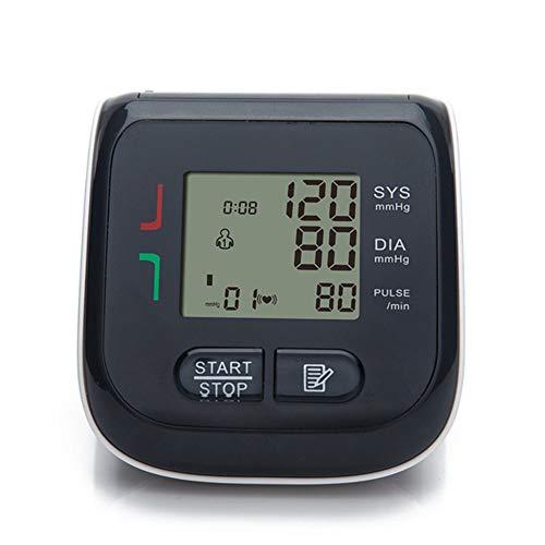 Misuratore Pressione Polso Digitale, Sensore Irregolarità Battito Cardiaco, Ampio Display LCD Pressione Elettrici Digital Monitor Display Memoria Adatto Uso Domestic