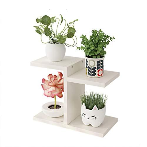 Estantería Decorativa de Macetas - 4 Nivel Planta de madera soporte vertical del estante flor estante de exhibición al aire libre Inicio Flor sostenedor de pote for el jardín Patio Balcón Dormitorio