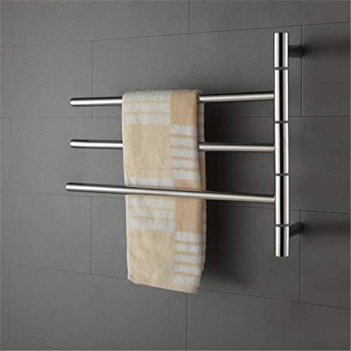 Toallero Eléctrico Calentador de toallas, Toaller eléctrica, Calentador de toallas Montado en la pared 304 Acero inoxidable Gorro de acero inoxidable Ahorro de energía Rack de secado Accesorios de bañ