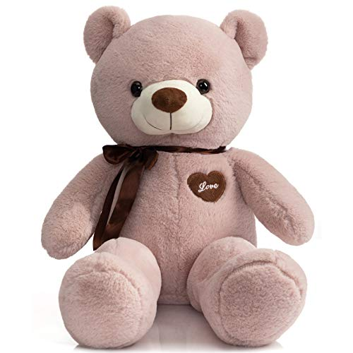 iBonny Teddy Bear Stuffed Animals Super Soft and Sweet Love Plush Bear Toy 32' Pink