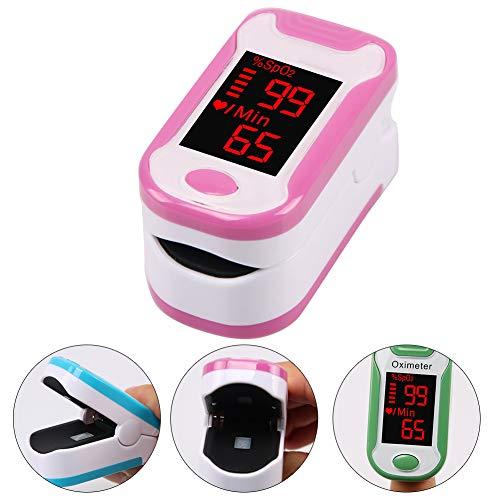 YMN LCD-Finger-Pulsoximeter, Handheld-Digital-bewegliche Finger-Pulsoximetrie Saturometro, für Krankenhaus, Gesundheitspflege zu Hause,Rosa
