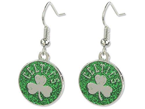 Aminco NBA Boston Celtics Glitter Dangler Earrings