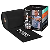 Professional Resistance Bands - 25 Yards (75ft) Latex-Free Elastic Exercise Fitness Band Roll - No Scent, No Powder - Perfect for Physical Therapy & Rehab, Yoga, Pilates (Expert .95mm Thick)