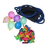 TOYANDONA Wasserballonwerfer Schleuder Outdoor Wasserballons Spielzeug Spiele mit 100 Latexballons für Kinder Erwachsene (zufällige Farbe)