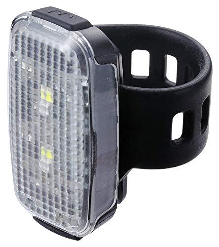 BBB Cycling Fahrradlicht SpotDuo USB Wiederaufladbar Vorne und Hinten Wasserdicht Scheinwerfer Rücklicht   MTB Urban Road 18 Lumen BLS-149, Schwarz  