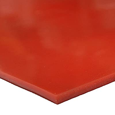 """Silicone - Commercial Grade Red/Orange - 60A - Rubber Sheets & Rubber Rolls - 1/4"""" Thick"""