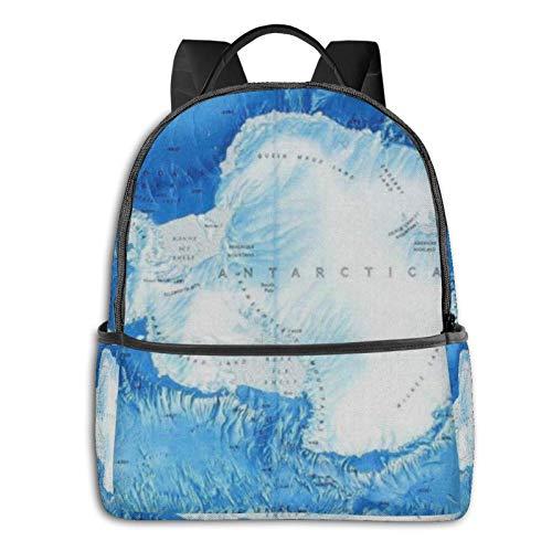 IUBBKI Mochila lateral negra Mochilas informales Men's Antarctica South Pole Backpack Durable Laptop Backpack Stylish Bookbag with Adjustable Shoulder Straps Multipurpose Backpacks for Business Work