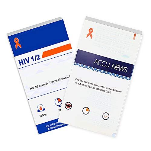 Hiv-zelftest, thuistestkit om snel speeksel- en bloedhulpmiddelen te testen Zelftest-thuistestcombinatie,2 blood test + saliva test