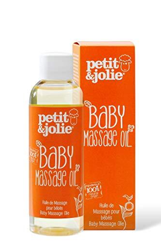 Petit&Jolie Huile de massage pour bébé 100ml - Tout naturel, Testé et cerfifié