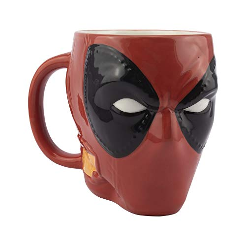 Paladone PP6485DPL Deadpool-Head - Taza con forma de cabeza