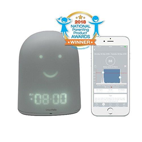 UrbanHello REMI – Réveil Jour Nuit éducatif et Suivi du sommeil - Babyphone audio avec alertes de bruit 5-en-1...