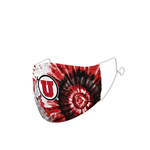 Top of the World NCAA Utah Utes Unisex Team Color Tie Dye Face Mask, Utah Utes Red, One Size (MTW_330)