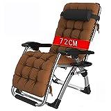 Liegestuhl Klappbar Relaxliege (Sonnenstuhl Liege Relax Liegestuhl) Liegestühle,Gartensessel Relax-Liegestuhl Air Comfort,Strandliege Klappbar Leicht Buecher Liegestuhl,72cm+brownmat