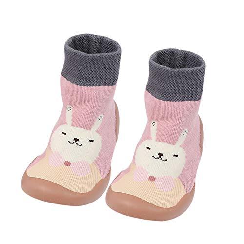 Fnsky Calcetines para bebé, antideslizantes, cálidos, calcetines para el suelo, bonitos zapatos de invierno para bebé niño y niña