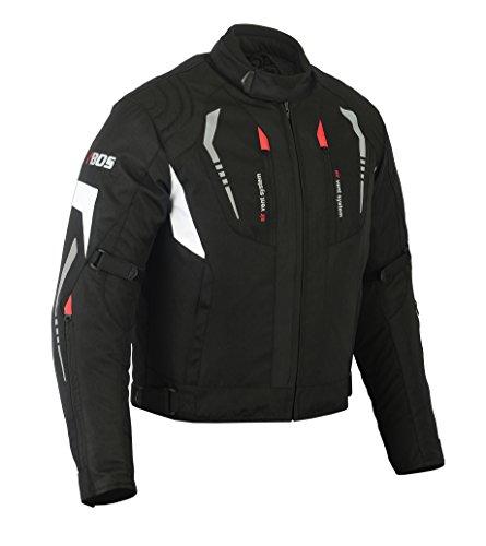 MOTORRADKOMBI JACKE + HOSE - AUS TEXTIL /CORDURA für Motorrad Biker Chopper Cross (4XL, WEISS)