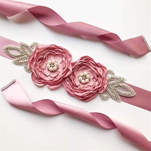 GLJYG Moderno cinturón de novia de imitación de perlas de imitación para...