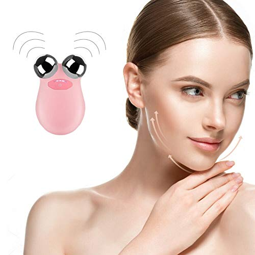 Mini Facial Toning Device, Microcurrent Facial Lift Trainer to Help Improve Facial Contour, Skin Tone and Wrinkle Reduction
