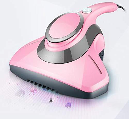 Mijtverwijderingsinstrument, handbediend huishoudmijtverwijderingsinstrument Ultraviolette sterilisatiemachine Geruisloze stofzuiger, geschikt voor kussens/bank,Pink