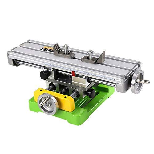 TTLIFE 310x90 mm Mini fresadora multifunción para metal, fresadora de mesa BG6300,Máquina de Mesa de Trabajo de fresado, Mini fresadora Mesa Deslizante Cruzada Accesorio de Tornillo