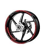 Motocicletta Pneumatico Ruota impermeabile Logo adesivi riflettenti banda Moto Adesivi for Suzuki GSR 600 Mei Racing (Color : XT LQ GSR600 RED)