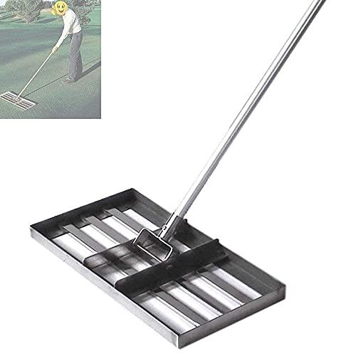 HTDHS Golf Lavel Level Rake □ 50 cm x 135cm Piastra Inferiore in Acciaio Inox con Manico □ Suolo Livello o Superficie terrestre □ Adatto per Giardino Golf Prato a Livello