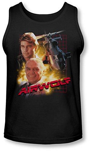 Airwolf - - Tank-Top pour hommes, Large, Black