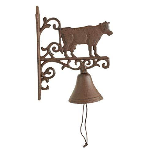 Cloche Vache Fonte - Marron - Décoration d'Autrefois