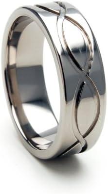7mm INFINITY Titanium Oakland Mall Award-winning store Ring Wedding USA Infini Made Band