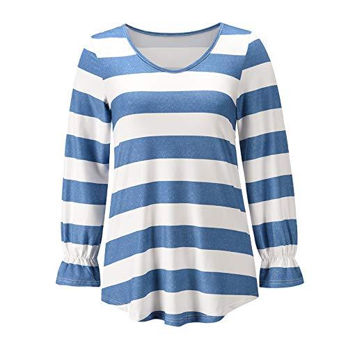 OtoñO/Invierno Tops para Mujer Camiseta Holgada Informal Cuello Redondo Manga Larga