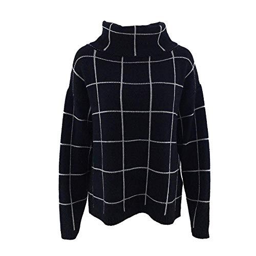Coltrui Vrouwen Oversized Casual Lange Mouw Losse Chunky Knit Pullover Tops Winter Pullover Vrouwen Jumper Tops Vrouwelijk-Zwart_M