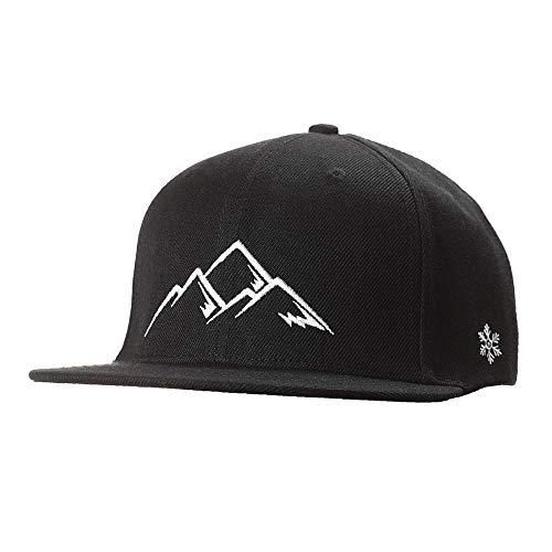 SchneeWolle Snapback Caps Herren & Damen, Schwarz, one Size - Cap mit Stick