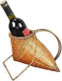 SDKFJ Botelleros y armarios para Vino Estante de Vino de bambú de Tejido...