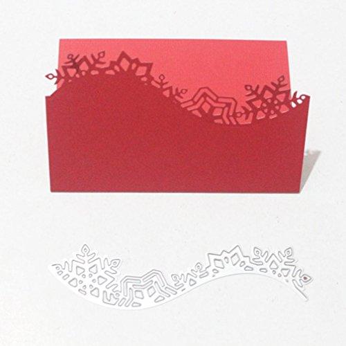 Wuayi Métal Coupe matrices de gaufrage Pochoir DIY Album de scrapbooking carte de papier craft Décoration, F:140 * 42MM, As Shown