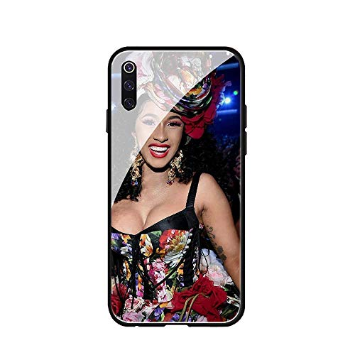 RUIWEI Phone Case Galaxy S9,RWNO-203 CardiB Cardi B Tempered Glass Design Pattern and Soft Silicone Rubber Bumper Frame for Scratch-Resistant and Anti-Scratch Absorption