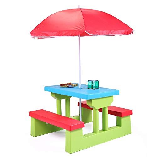 Parkland Bunter Kinder-Picknicktisch mit integrierten Bänken