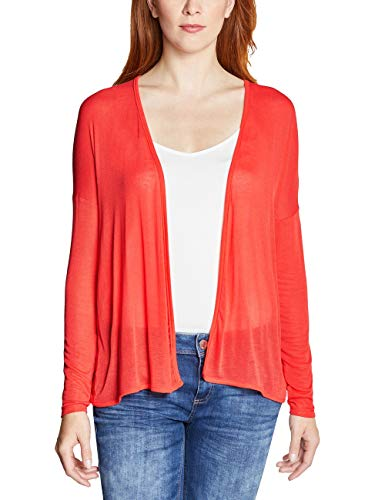 Street One Damen Filvia Strickjacke, Bright Coral, 46